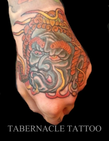 Fudo tattoo on hand