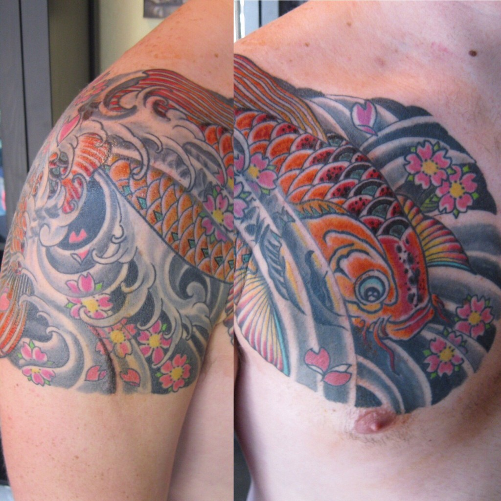 Japanese koi fish tattoo tabernacle tattoo tampa florida for Best tattoo artists in florida
