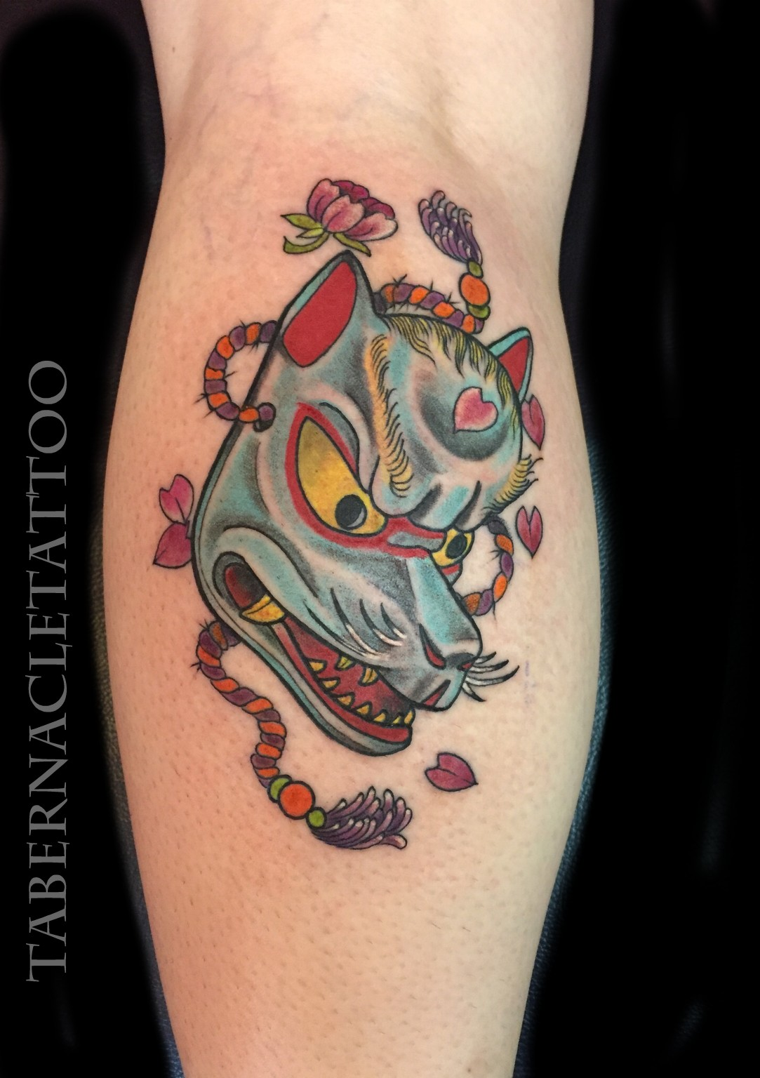 Traditional Kitsune Tattoo: Tabernacle Tattoo Tampa Florida
