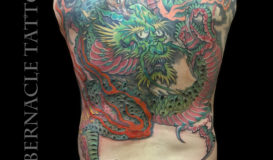 Dragon back piece tattoo